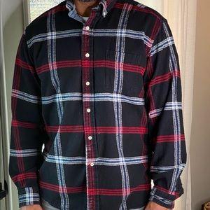 Nautica men's button down flannel shirt.
